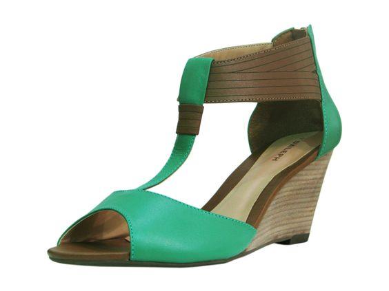anabela verde e marrom - daleph