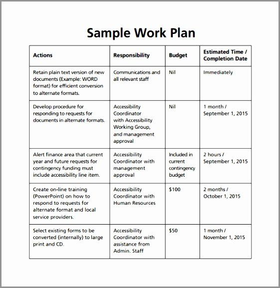 Sample Work Plan Template Elegant 7 What Is A Work Plan Template Orozr In 2020 Work Plans How To Plan Business Plan Template Word