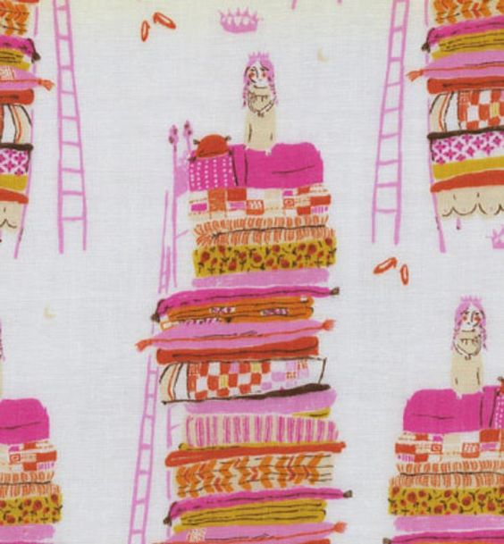 heather ross princess and the pea fabric. LOVE!