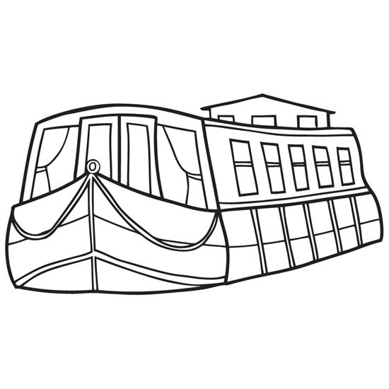 erie canal boats coloring page canal ny pinterest canal boat and boating - Boat Coloring Pages
