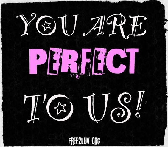 You are perfectly YOU! Share with someone's who perfect to you. Let's SPREAD THE LUV! ❤ #Free2Luv