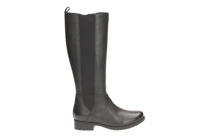 Clarks Verlie Gail - Black Leather - Womens Casual Boots | Clarks