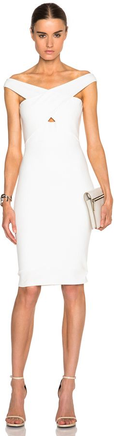 Certainly a sleek looking dress that just works, Mason by Michelle Mason Cross Strap Dress