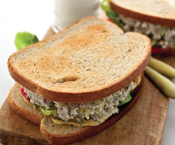 vegan tuna sandwich.  Would be great on a tomato.. looks like a good way to add more nuts/seeds and I'll try anything once :D
