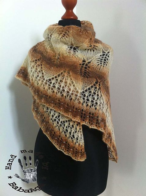 Ravelry: BabaAga's Frozen Leaves for Anette