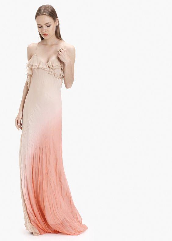 Vestido de seda con escote en V - Etxart&panno