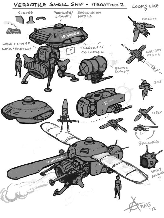 Character Design References Challenge Rules : Spaceships ★ character design references https