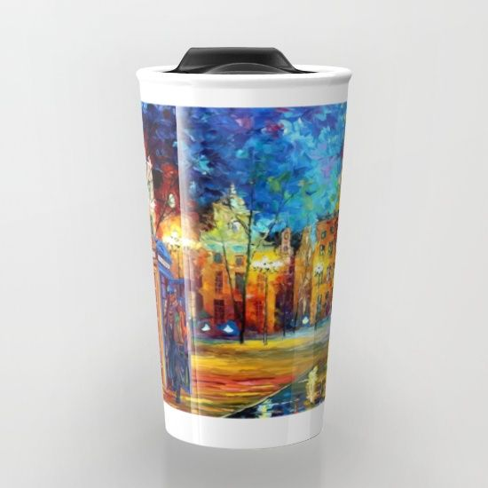 Detective and Big ben starry the night Travel mug #travelmugs #tardis #doctorwho #painting #art #starrynight #sherlockholmes #221b #fullcolour