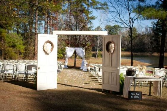 Outdoor Wedding With Long Aisle : Wedding Aisle Ceremony