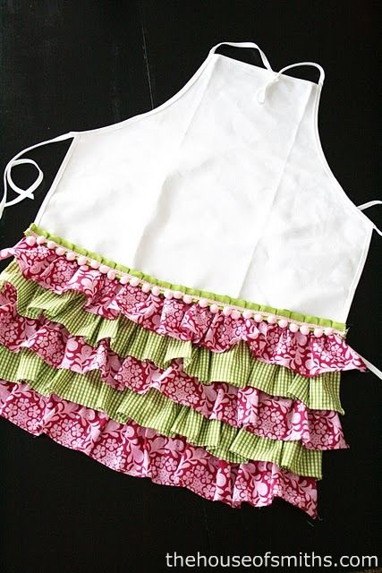 Ruffles Apron Tutorial..This would be fun for a girls cooking party.