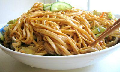 Chilled Szechuan Peanut Noodle Salad