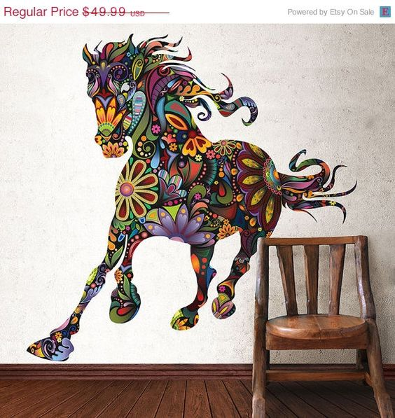 SALE Horse Wall Sticker Decal for Girls Bedroom by MyWallStickers, $39.99