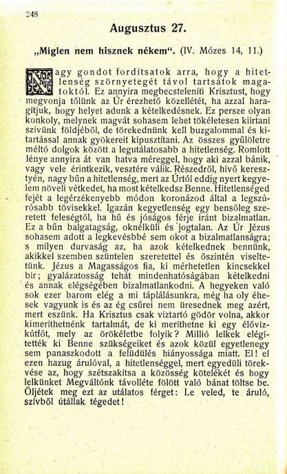 08.27. Spurgeon: Harmatgyöngyök...