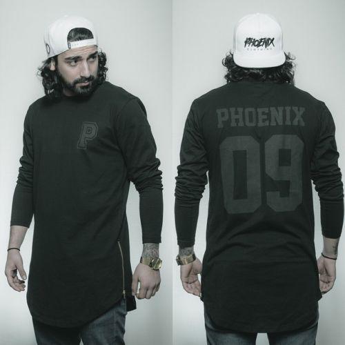 Phoenix-Allstar-Allblack-Oversize-Manga-Larga-T-Shirt-longtee-longshirt-Negro