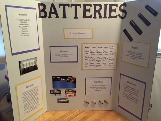 Batteries Science Fair Project Which Brand Last The