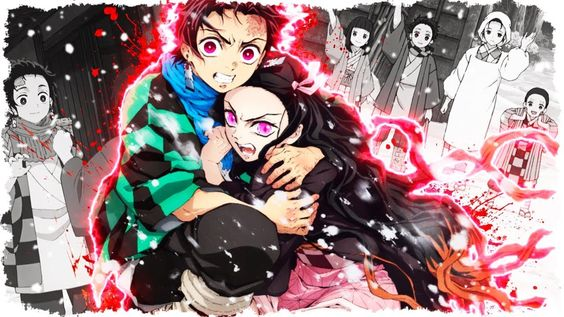 Tanjiro protects Nezuko Season 2