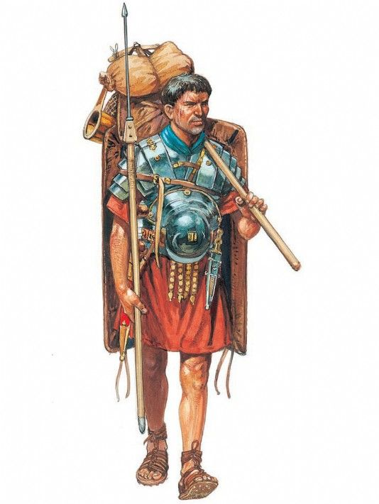 A legionary on the march