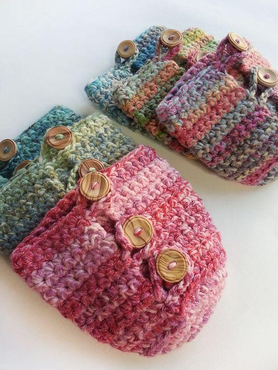 Six crochet mug cosies in fair isle effect yarn - Visit my shop ...