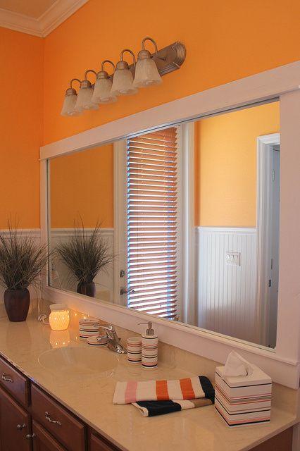 Orange Bathroom Decor Pinterest Orange Bathrooms