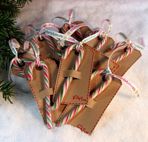 candy cane gift tags ~ great idea for that box of 12 candy canes :):
