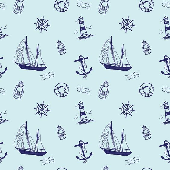 Nautical Sailor Digital Scrapbook Papers for by AmandaIlkov