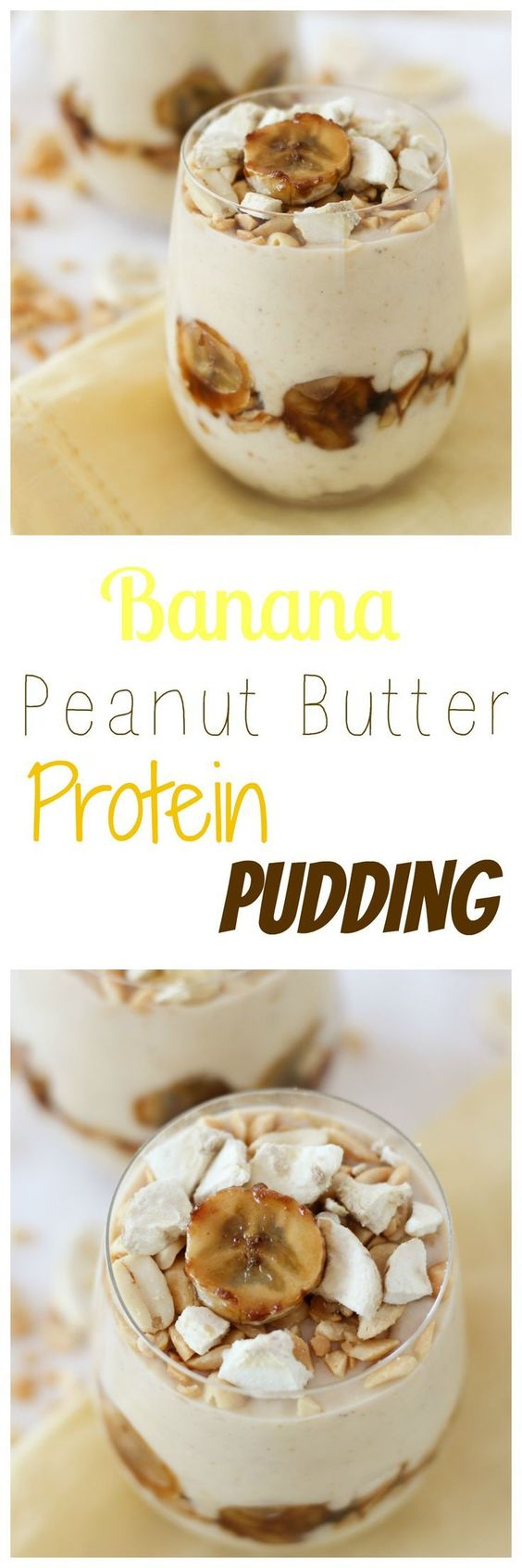 A healthy vegan gluten free protein pudding recipe that's a take on the classic banana pudding with the combination of banana and peanut butter.