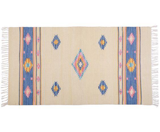 Handgewebter Kelim-Teppich Luana