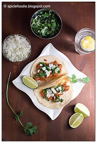 Tacos al Pastor; Mexican; food; tacos; pineapple; pork taco meat; pork ...