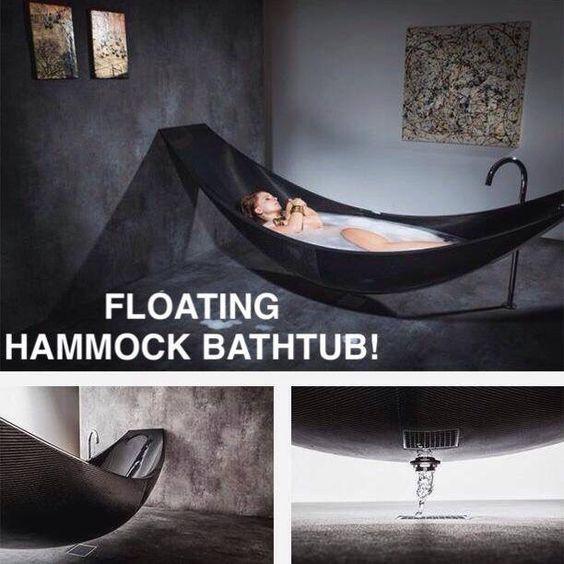 Floating Hammock Bathtub