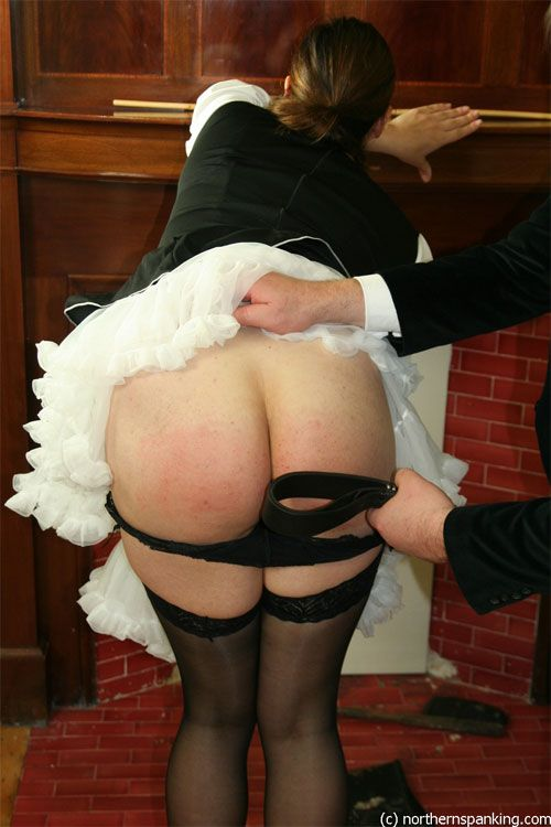 adult spanking anal - Spanking cosplay porn - Classic erotic cosplay spanking with a pair of  french maids in sexy