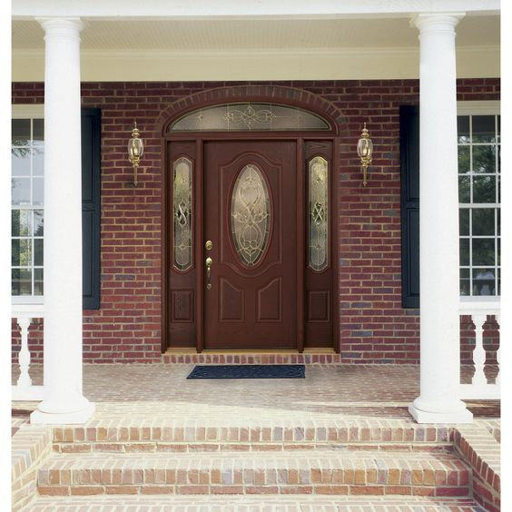 Therma Tru Benchmark Doors Willowbrook 2 Panel Insulating Core Oval Lite Righ