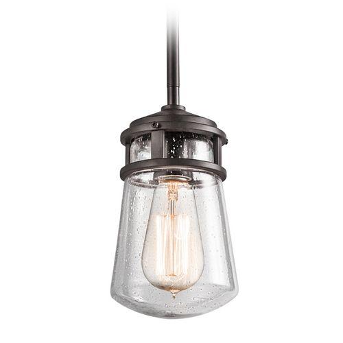 Kichler Lighting Kichler Lighting Lyndon Architectural Bronze Outdoor Hanging Light | 49446AZ | Destination Lighting