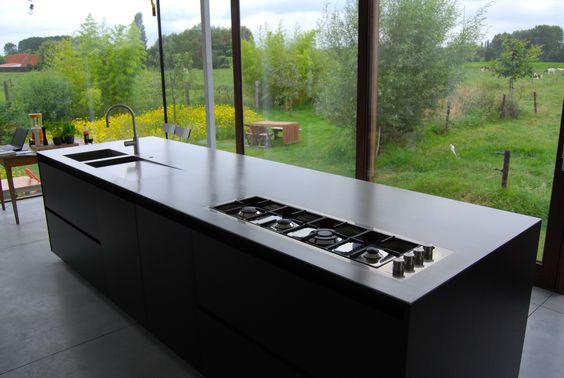 Inox Keuken Plaat : Inox keukentablet op maat gemaakt. keukens Pinterest