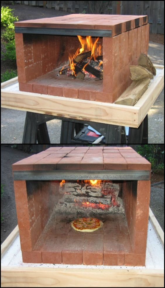 Build a dry stack wood fired pizza oven comfortably in one