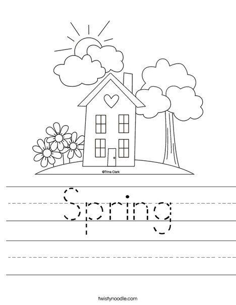 Spring Worksheet - Twisty Noodle | Planned Activities | Pinterest ...