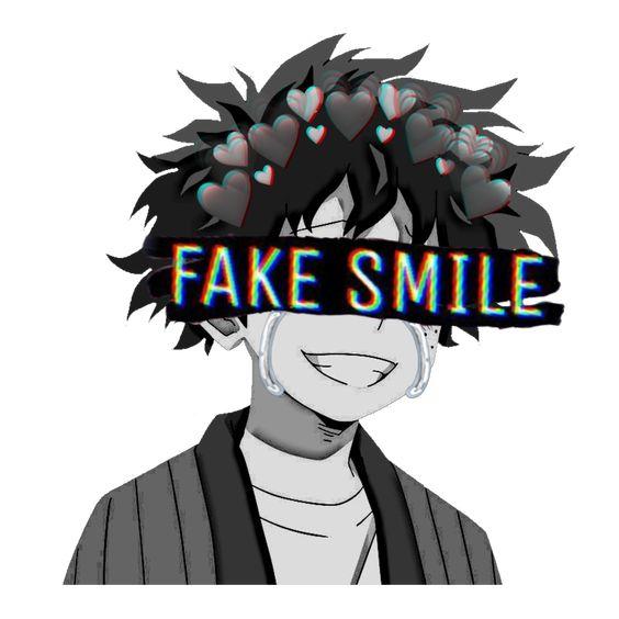 Gambar Keren Anime Sedih Fake Smile