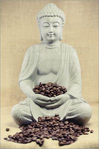 Küchenbild Kaffeebohnen Buddha