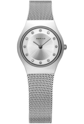 Bering Ladies Silver Dial Mesh Band Classic Watch 11923-000