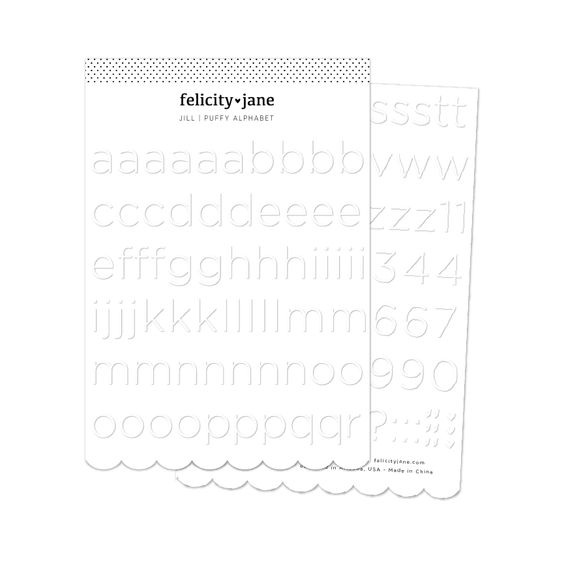 Felicity Jane Jill | White Puffy Alphabet Stickers
