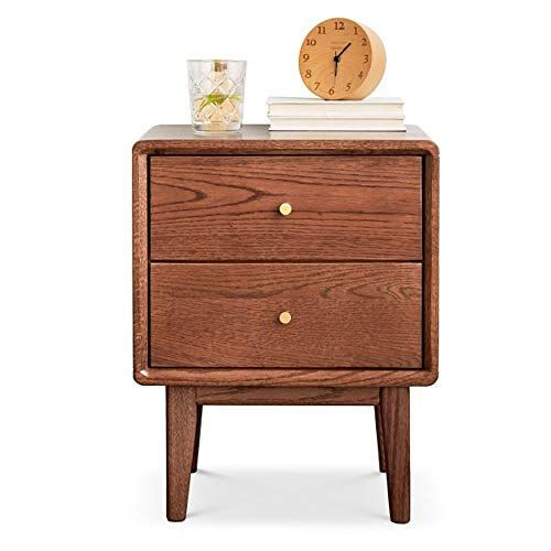 Hw Bedside Table Solid Wood Cabinet Oak Multi Function Small