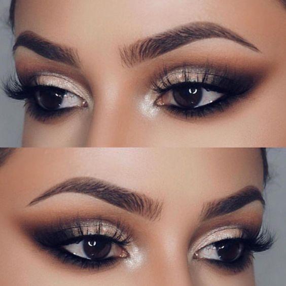 Interesting Makeup Ideas for Dark Brown Eyes ★ See more: https://makeupjournal.com/dark-brown-eyes-makeup-ideas/