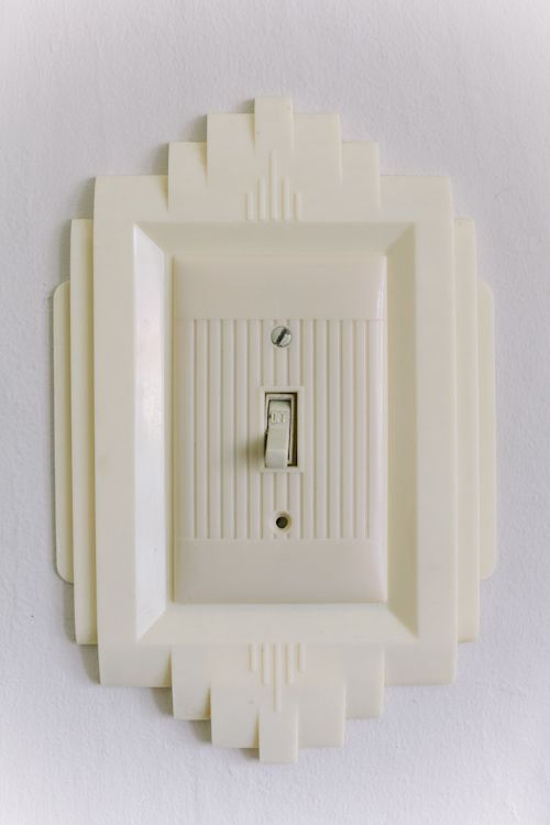 Art Deco Bakelite Switch Plate