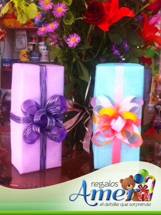 Cajas forradas con #tela. #envolturas y #regalos Amer