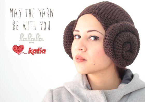 May the yarn be with you! Con estos 2 patrones de ganchillo: capucha Ewok y gorro Princesa Leia con Katia Maxi Merino | http://www.katia.com/blog/es/p=4741: