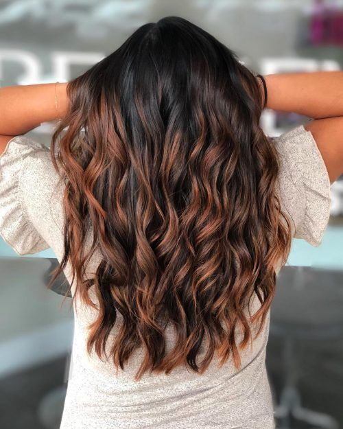 19 Hottest Black Hair With Highlights Trending In 2020 Hair Highlights Auburn Highlights Black Hair With Highlights