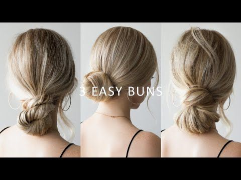 I Am So Excited Today To Be Able To Share With You These 3 Easy Low Bun Hairstyles I Love How Versatile Easy Bun Hairstyles Low Bun Hairstyles Bun Hairstyles