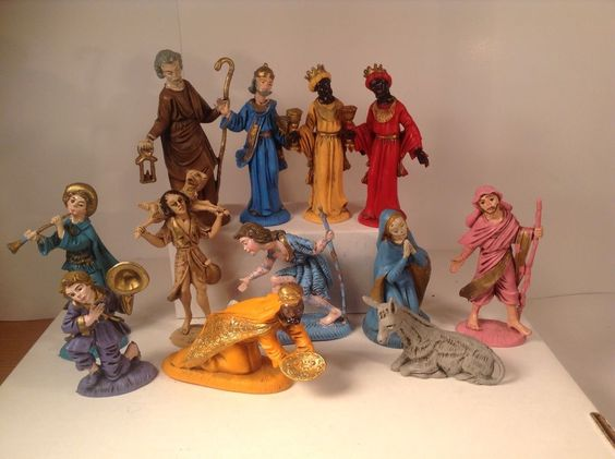 fontanini depose vintage nativity figurines made in italy. Black Bedroom Furniture Sets. Home Design Ideas