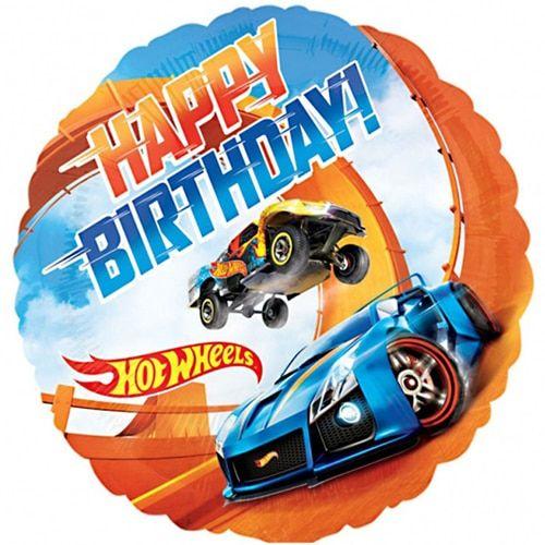 Hot Wheels Happy Birthday Foil Balloon Festa Hot Wheels Hot