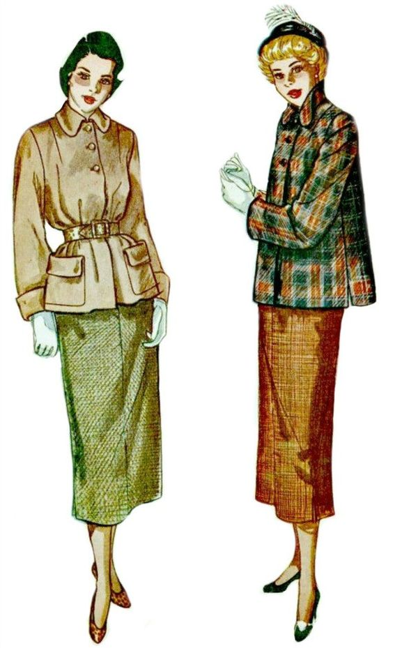 1940s Suit Pattern Two Piece Winter Ensemble by ShellMakeYouFlip