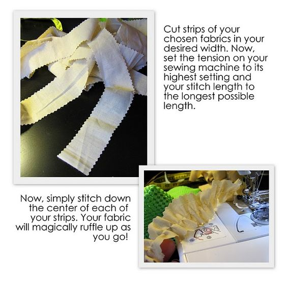 Sewing Machine Ruffles
